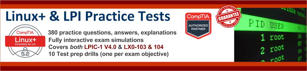 LPI + Linux+ practice test