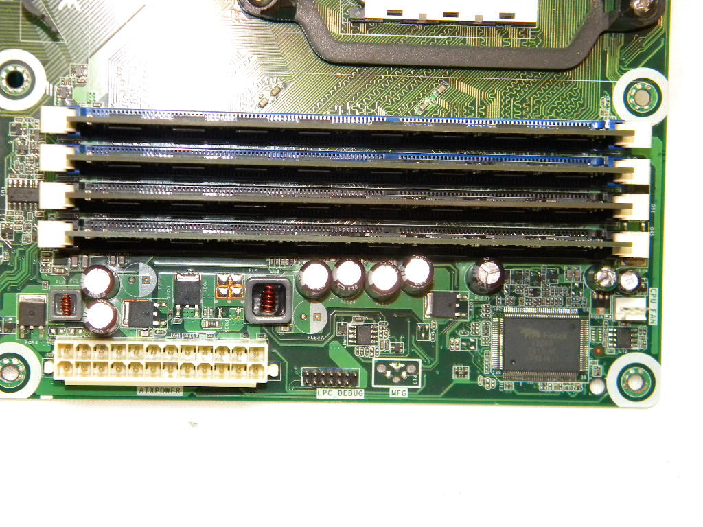double sided dimms installed in motherboard for a exam