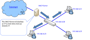 The DHCP Server distributes IP