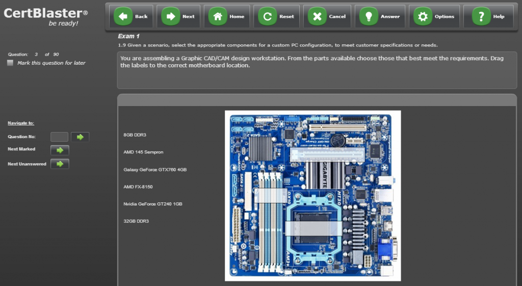 A+ 220-901 PBQ Motherboard