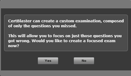 Pop-up shows the option to create a custom practice test