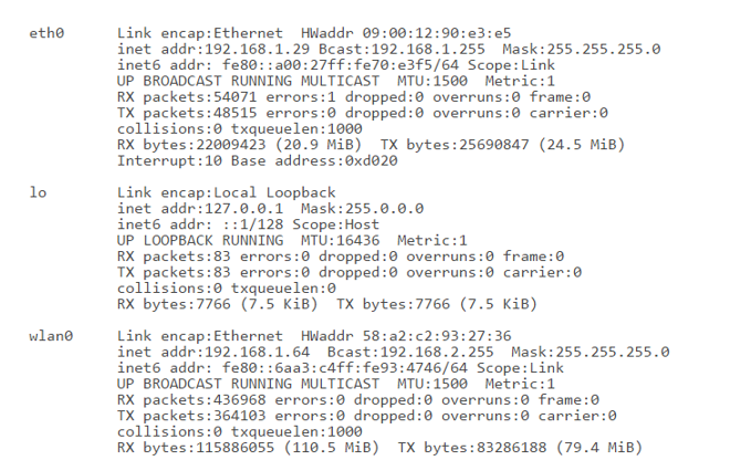 Linux Command Output