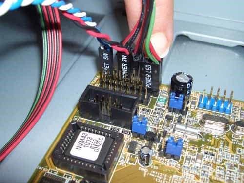 hook up motherboard