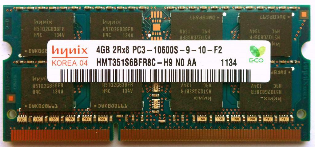 Photo of a SO-DIMM module