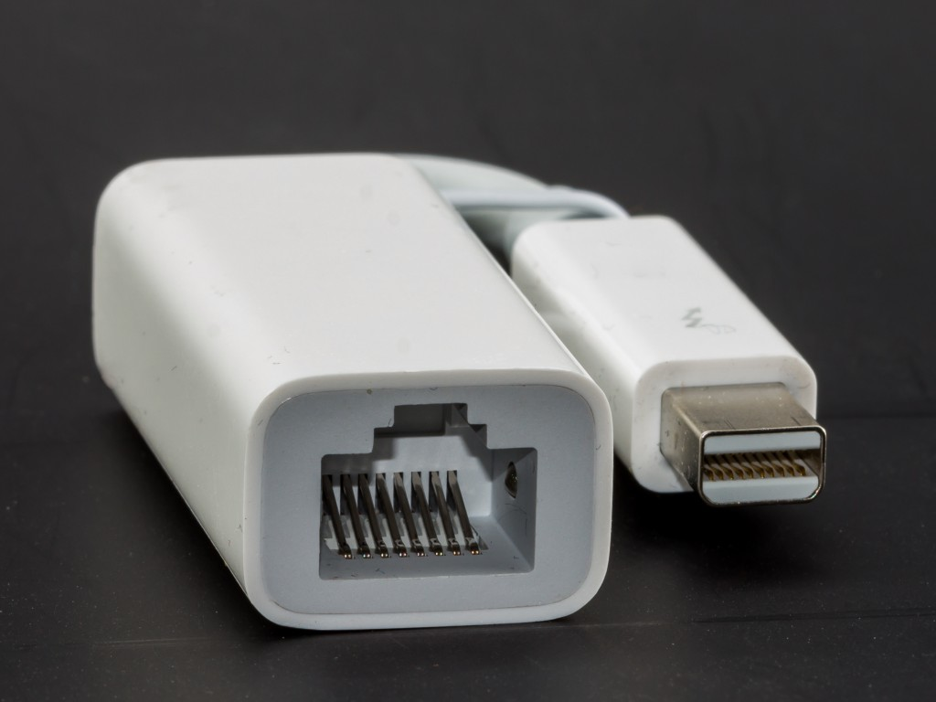 Photo of a Thunderbolt Ethernet Adapter by Apple