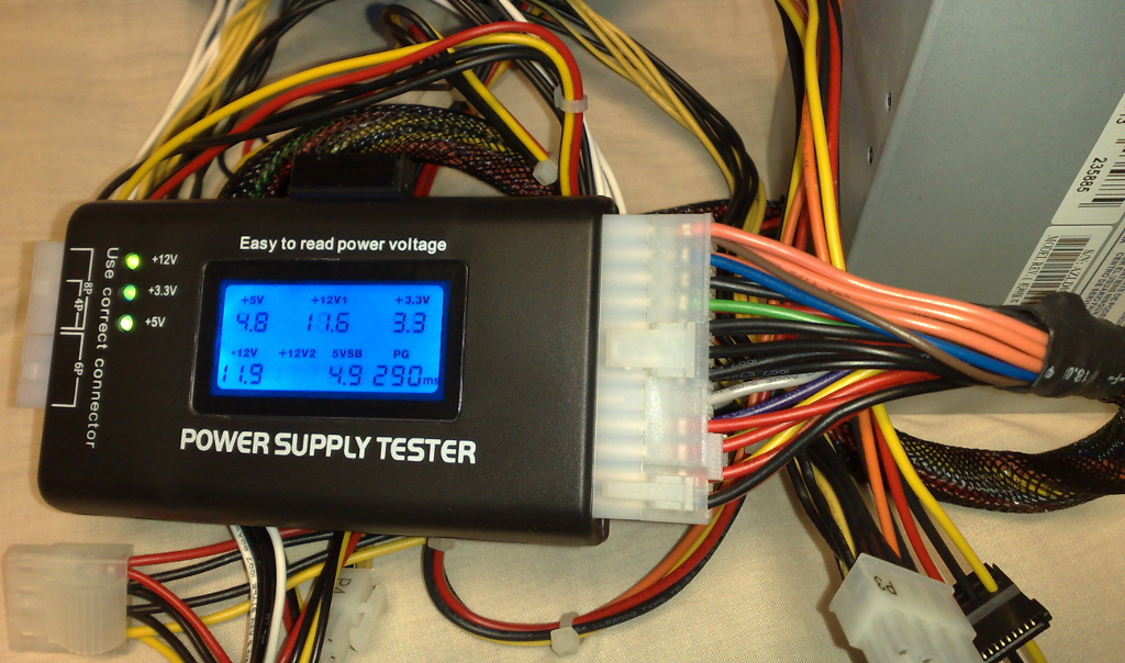 Power supply tester for CompTIA A+ objective 4.1 - CertBlaster
