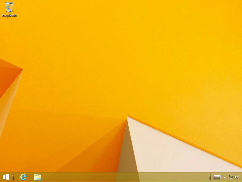 Screenshot of Windows 8 desktop