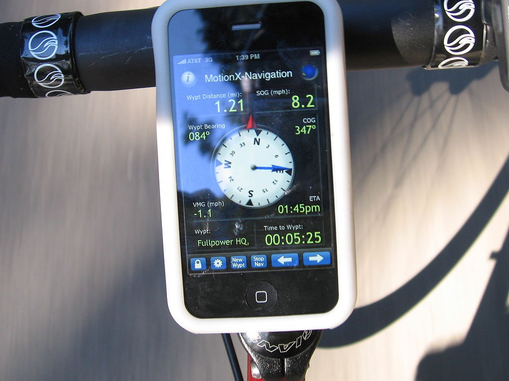 GPS smartphone cycling