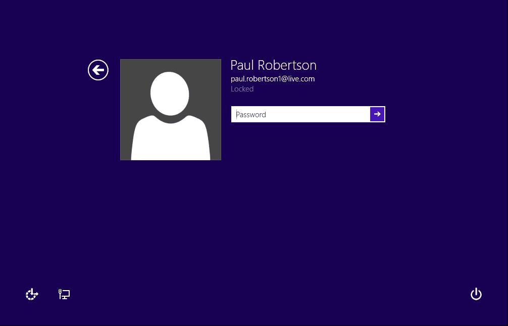 screenshot of Screenlock logon