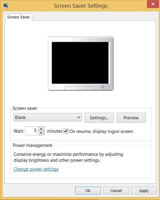 screenshot of Set Screenlock