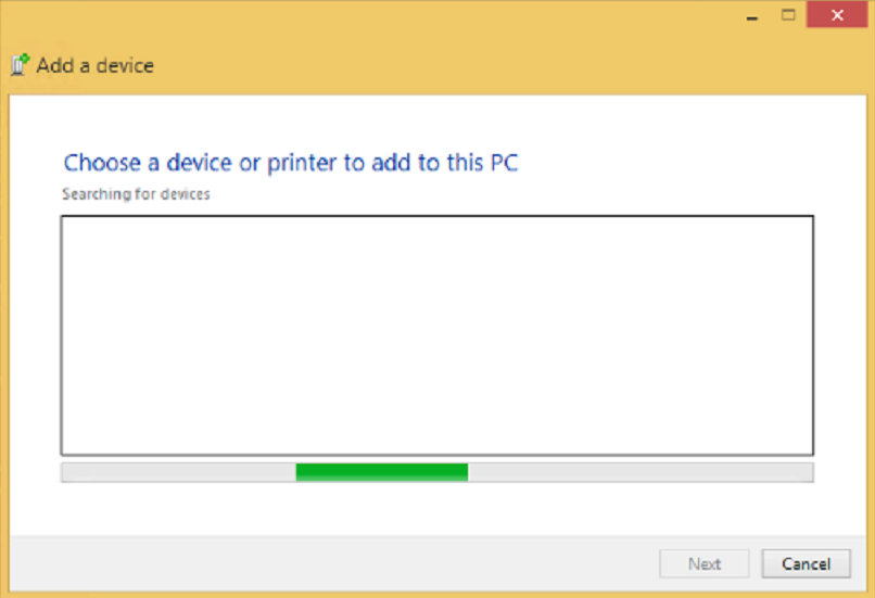 screenshot of Bluetooth Discovery