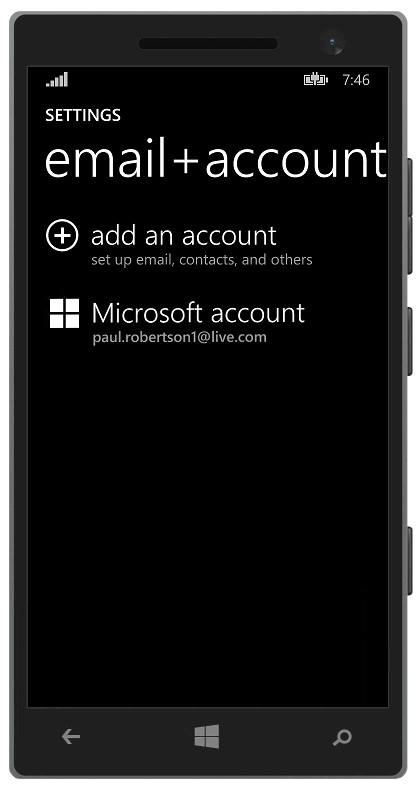 photo of mail menu smartphone