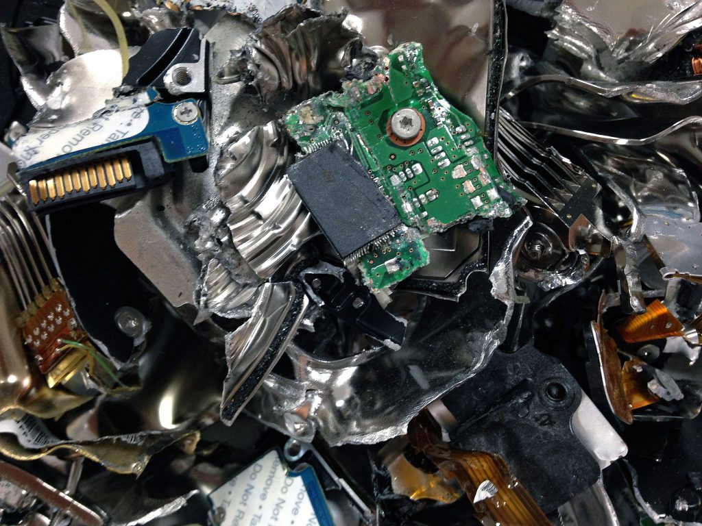 Certblaster Be Ready Rejected Circuit Boards With Lpi Direct Recycling Inc Photo Of A Destroyed Hard Drive