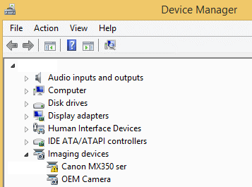 Screenshot of Problem with Device Driver
