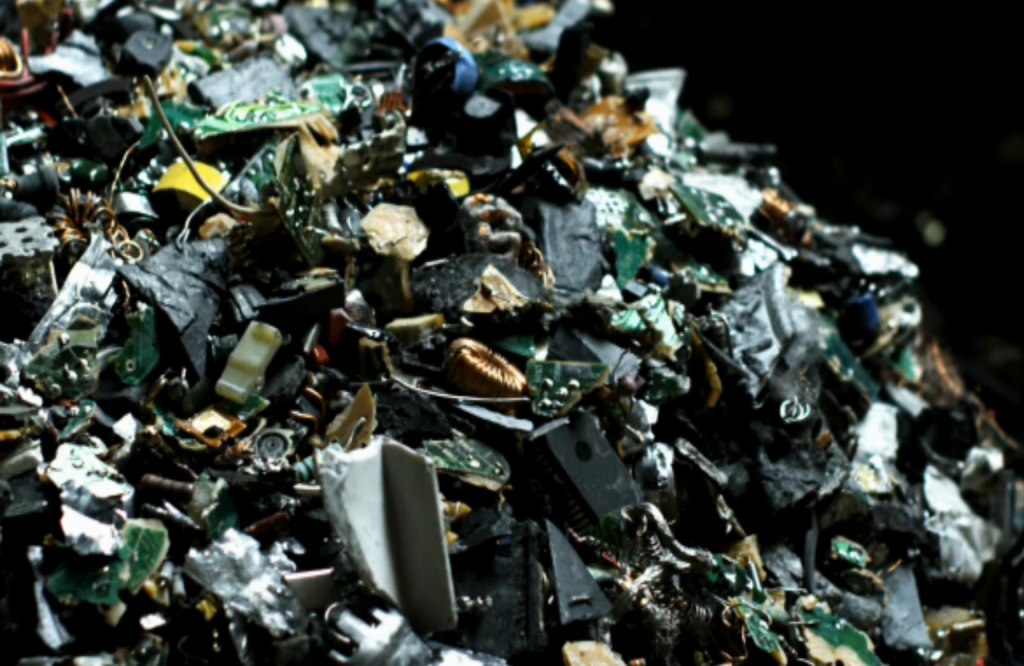 photo of several Shredded PC's in a mound
