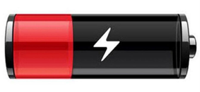 Icon for Battery running low