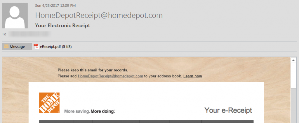 Screenshot of Spam-Phishing Malware