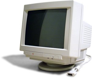 photo of a cathode ray tube - CRT monitor