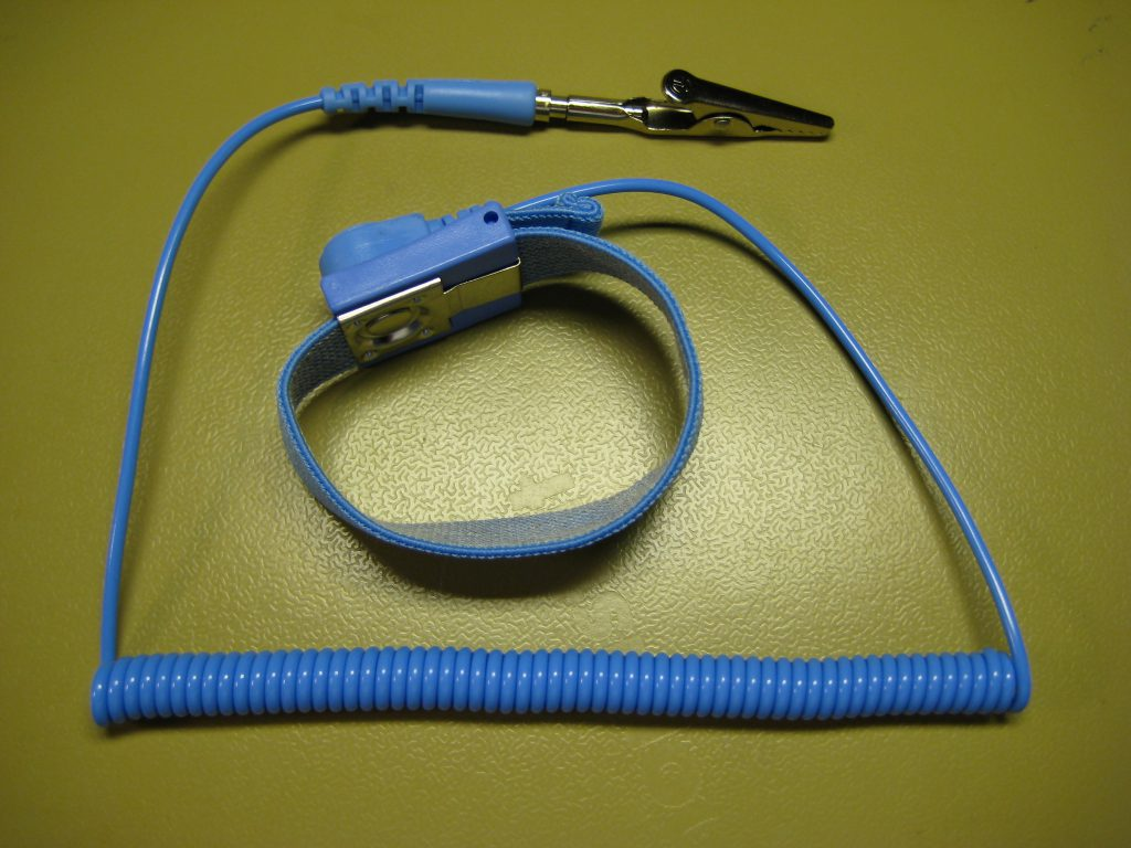 Photo of blue ESD Wrist Strap