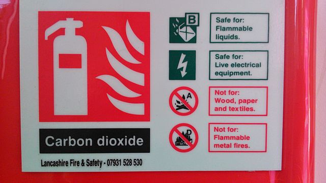 phote of Fire Extinguisher label