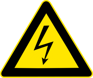 graphic of High voltage warning
