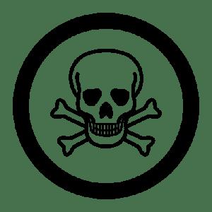 graphic of Toxic Warning Symbol