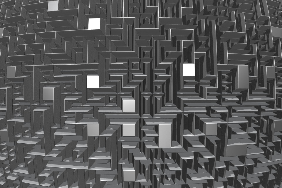 photo of a maze or labyrinth