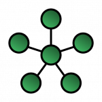 schematic illustrating a star network topology