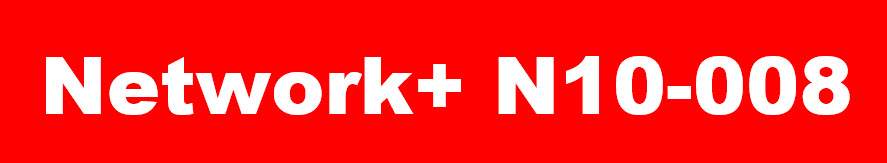 White Network+ N10-008 Logo on red background